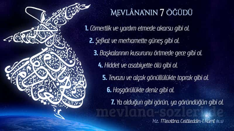 Mevlâna'nın 7 Öğüdü